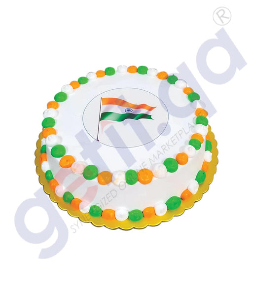 INDEPENDENCE DAY SPECIAL CAKE WITH EDIBLE PRINT 1KG