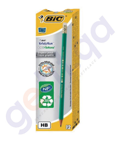 BUY BEST PRICED BIC EVOLTN.PENCIL+ERASER 12'S IN DOHA QATAR