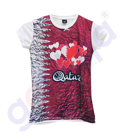 Buy Qatar National Day T-Shirt Kid KD4 for Girls Doha Qatar