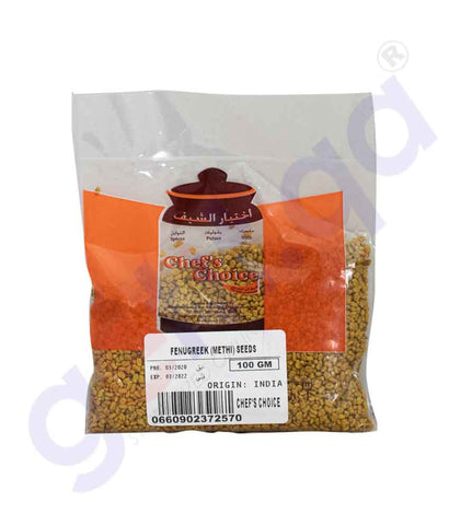 Buy Chef's Choice Fenugreek Methi Seed Uluva 100g Doha Qatar