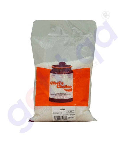 Buy Chef's Choice Sugar White(Refined) 1kg Online in Doha Qatar
