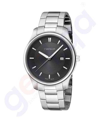GETIT.QA | Buy Wenger City Classic Black Dial Mens 01.1441.104 Doha Qatar
