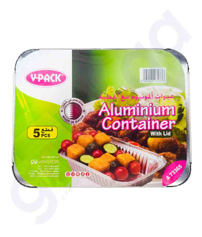 Buy V-Pack Aluminium Container A73365 Online in Doha Qatar
