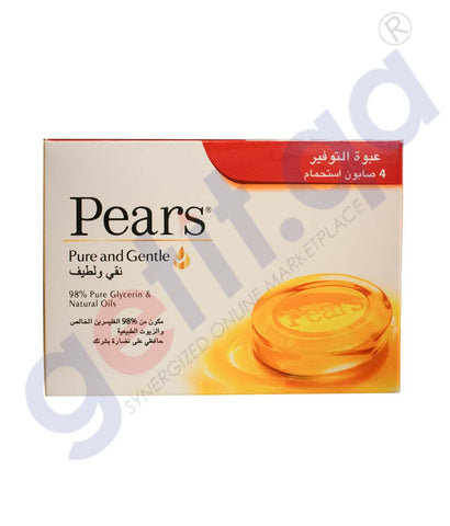 PEARS PURE&GENTLE  SOAP 4X125GM