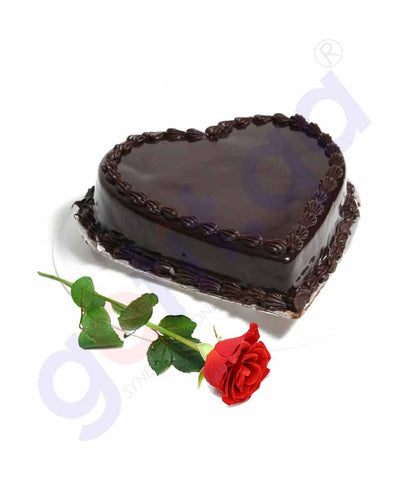 Buy Chocolate Cake 1kg with Red Rose Price Online Doha Qatar