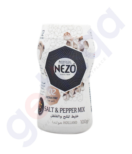 Buy Nezo Salt-  Salt & Pepper 100g Price Online in Doha Qatar