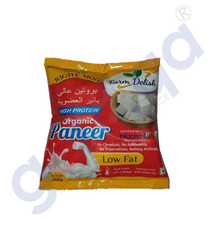 FARM DELISH ORGANIC HIGH PROTEIN  PANEER 350 GM