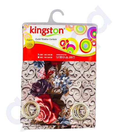 Buy Kingston Eyelet Curtain 140*180cm Online in Doha Qatar