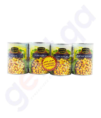 Buy Al Tayyab Chick Peas 4x400gm Price Online in Doha Qatar