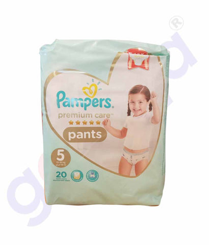 PAMPERS - PAMPERS PREMIUM CARE PANTS SIZE-5 (20 PIECES)