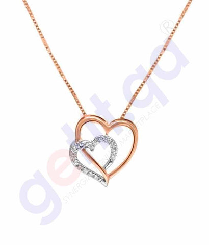 Shop Shine Gold and Diamond Pendants Model 6 in Doha Qatar