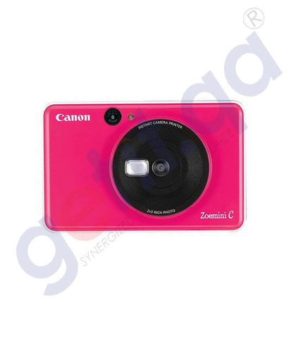 Buy Canon Zoemini C Bubble Gum Pink Camera with Printer Online Doha Qatar