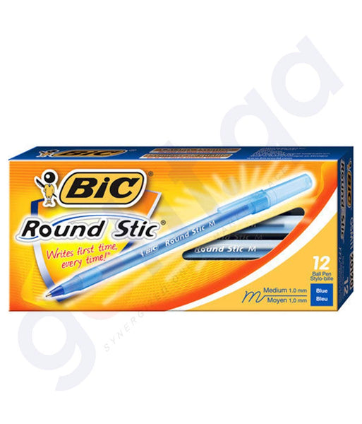 BUY BIC ROUND STIC BALL PEN BLUE MEDIUM IN DOHA QATAR