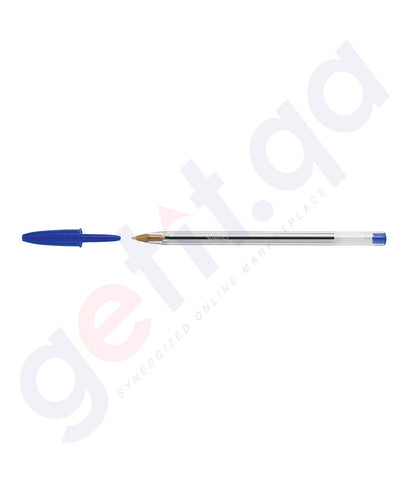 BUY BIC CRISTAL MEDIUM BLUE 50 PENS BOX ONLINE IN DOHA QATAR