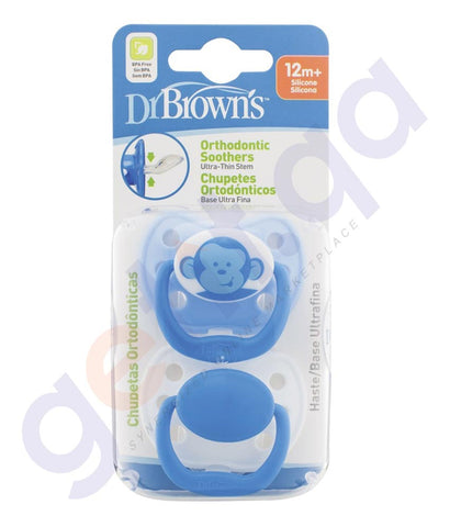BUY DR BROWN ORTHO C/S PACIFIER-STAGE BLUE-984-SPX IN QATAR