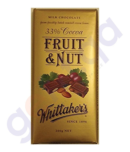 BUY WHITTAKERS-CHOCOLATE FRUIT & NUT BLOCK 200GM IN DOHA QATAR