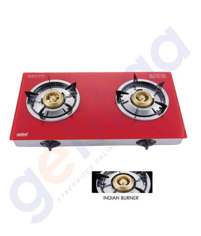 BUY SANFORD GLASS GAS STOVE 2 BURNER SF5363GC IN DOHA QATAR
