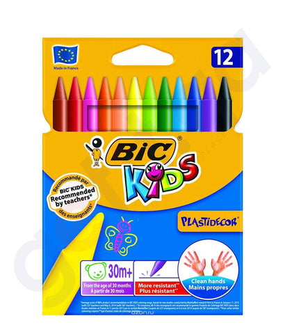 BUY BEST PRICED BIC KIDS PLASTIDECOR 12 CRAYONS ONLINE IN DOHA QATAR
