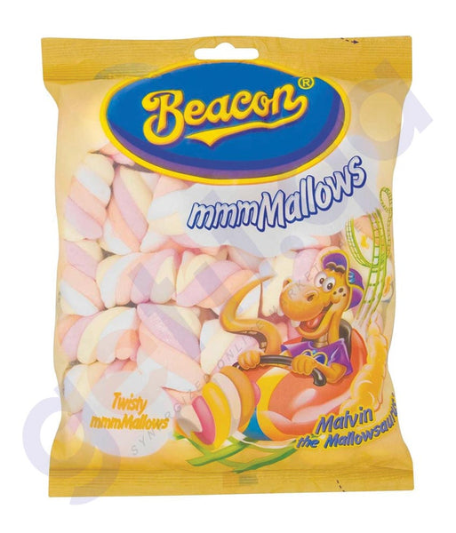 BUY BEST PRICED BEACON MARSHMALLOWS TWISTERS 150GM IN QATAR