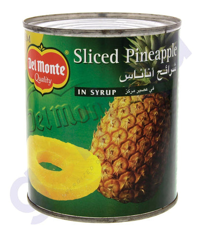BUY DEL MONTE PINEAPPLE SLICES IN SYRUP 836GM ONLINE IN QATAR