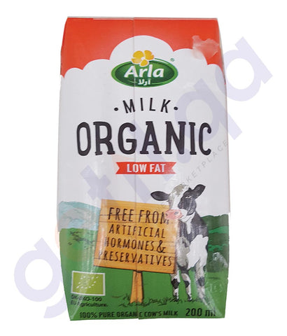 BUY BEST PRICED ARLA ORGANIC MILK LOWFAT 200ML ONLINE IN QATAR