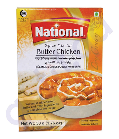BUY NATIONAL BUTTER CHICKEN MASALA - 50GM ONLINE IN QATAR