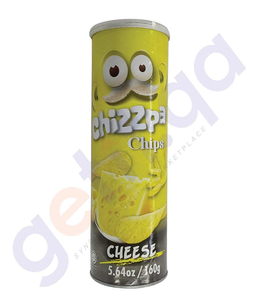 BUY BEST PRICED CHIZZPA CHIPS POTATO CRISPS CHEESE 160GM IN QATAR