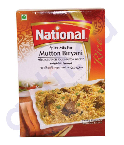 BUY BEST PRICED NATIONAL MUTTON BIRYANI MASALA 90GM IN QATAR