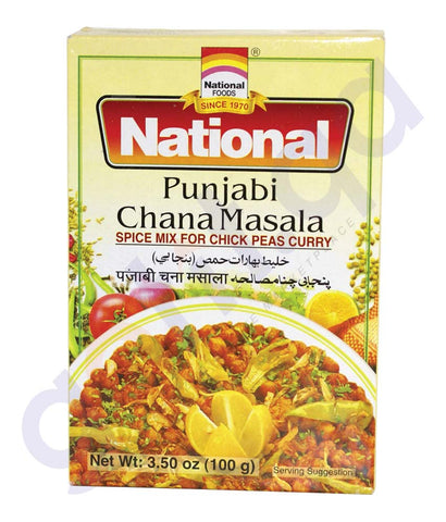 BUY BEST PRICED NATIONAL PUNJABI CHANA MASALA 100GM IN QATAR