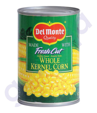 BUY BEST PRICED DELMONTE WHOLE KERNEL SWEET CORN 410GM IN QATAR