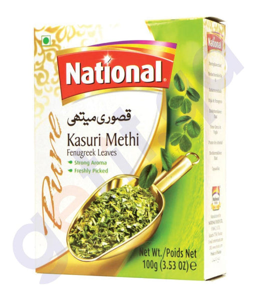 BUY BEST PRICED NATIONAL KASURI METHI 100GM ONLINE IN QATAR