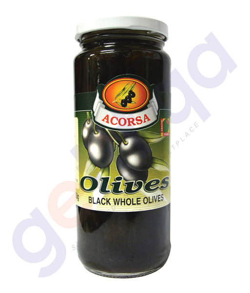 BUY BEST PRICED ACORSA OLIVES BLACK PLAIN JAR 285GM ONLINE IN QATAR