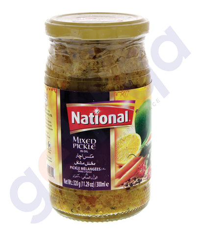 BUY BEST PRICED NATIONAL MIXED PICKLE 320GM ONLINE IN QATAR