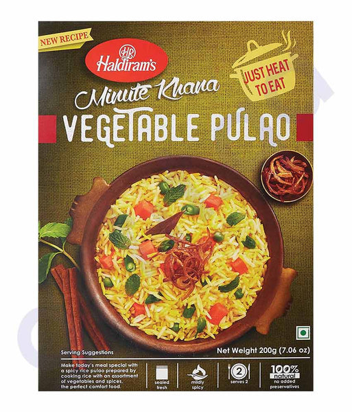 BUY BEST QUALITY HALDIRAMS VEGETABLE PULAO 200GM ONLINE IN QATAR