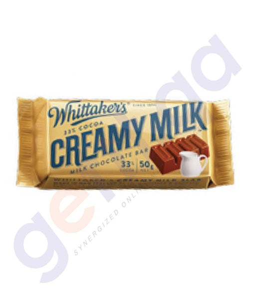 BUY WHITTAKERS-CHOCOLATE CREAMY MILK SINGLES 45GM IN DOHA QATAR
