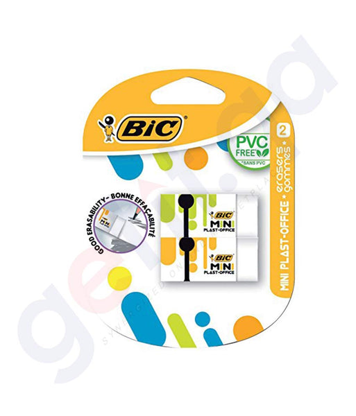 BUY BEST PRICED BIC MINI PLAST- OFFICE (ERASERSx2) IN DOHA QATAR
