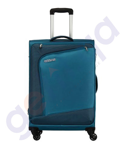 BUY AMERICAN TOURISTER VIENNA SPINNER TEAL BLUE 70CM IN QATAR