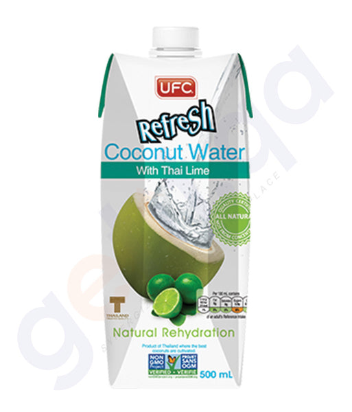 BUY BEST PRICED UFC REFRESH COCONUT WATER THAI LIME 500ML IN QATAR