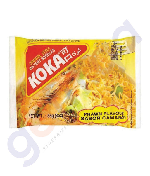 BUY BEST PRICED KOKA M/PACK NOODLES PRAWN 85GM IN QATAR