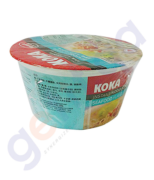BUY BEST PRICED KOKA BOWL NOODLES SEAFOOD 90GM ONLINE IN QATAR