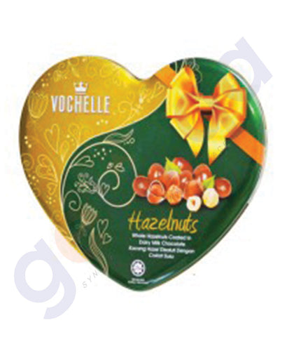 BUY BEST PRICED VOCHELLE GIFT COVERED ALMOND 180GM TIN SQU IN QATAR
