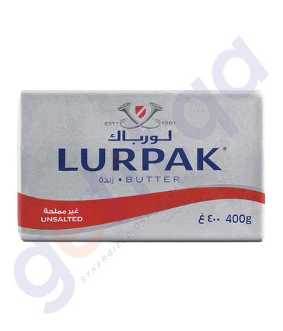 BUY BEST PRICED LURPAK BUTTER UNSALTED 400GM ONLINE IN QATAR