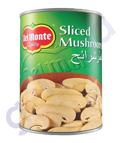 BUY BEST PRICED DEL MONTE MUSHROOM SLICES 400 GM IN QATAR