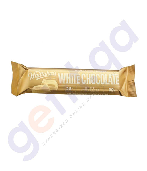 WHITTAKERS - CHOCOLATE WHITE CHUNKS 50GM