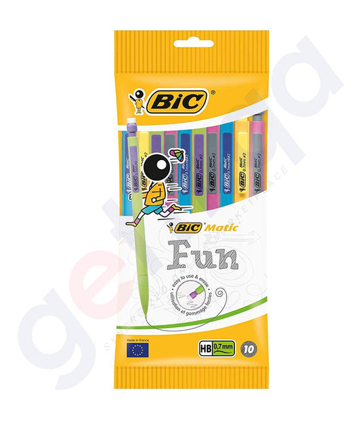 BUY BIC CLIC MATIC 0.7 MECHANICAL PENCILS BOX OF 10 IN DOHA QATAR