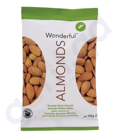 BUY BEST QUALITY WONDERFUL ALMONDS ROAST & SALT 115GM IN QATAR
