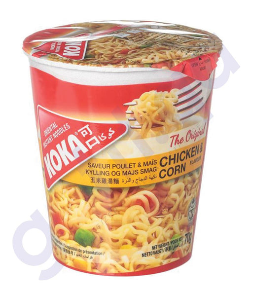 BUY BEST PRICED KOKA CUP NOODLES CHICKEN&CORN 70GM ONLINE IN QATAR