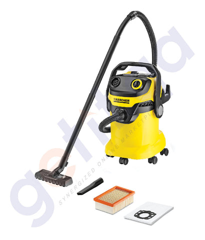 Buy Best Priced KARCHER MULTI-PURPOSE VACUUM CLEANER 25L WD5 in Doha Qatar