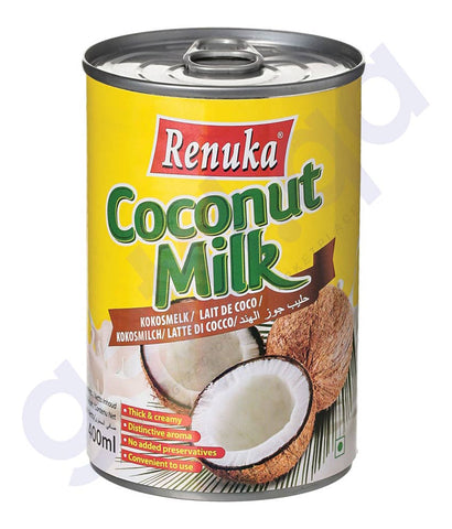 BUY BEST PRICED RENUKA COCONUT MILK 17% FAT 400ML IN QATAR