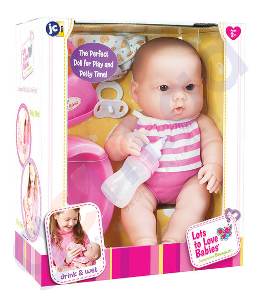 "BUY JC TOYS 14"" LOTS TO LOVE BABIES DRINK AND WET-16182 IN QATAR"